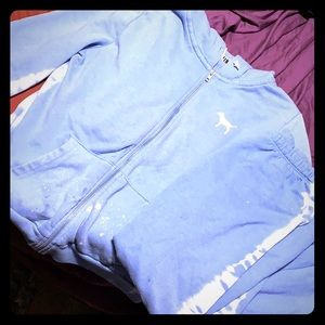 Baby Blue Pink Victoria Secret Jump Suit